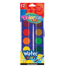 Farby Akwarelowe 12szt Colorino kids Water Colours 41508PTR