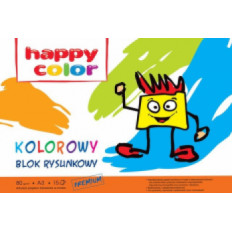 Blok rysunkowy Kolor A3 80g. 15k . Happy Color