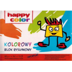 Blok rysunkowy Kolor A4 80g. 15k . Happy Color
